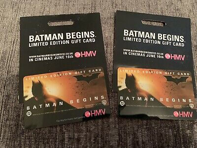 HMV Batman Begins Limited Edition Gift Card New X2 • 1£