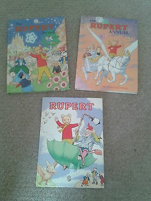 Books - Rupert Bear Annuals - 75th Anniversary Edition (Bundle/Lot) • 15£
