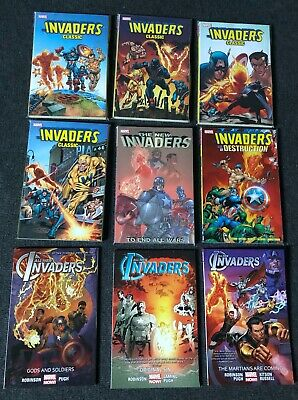 The Invaders (9 X Marvel Graphic Novels / TPB) • 110£