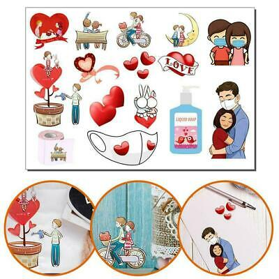Trendy Girl Valentine's Day Sticker Papercraft Seasonal 29.7*21cm Craft • 2.01£