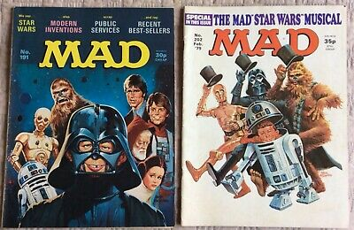 Mad Magazines Issues 191 And 202. Star Wars Parodies. • 7.99£