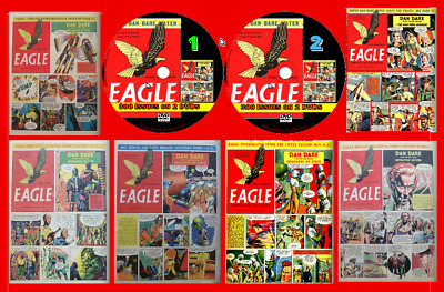 800+ Eagle Comics  On 4 PC-DVDs Inc 36 Annuals/Specials • 4.89£