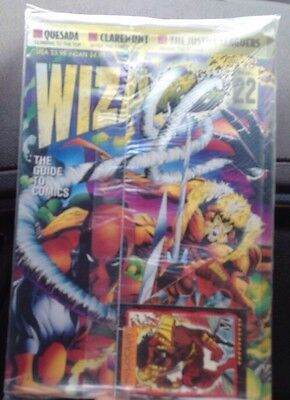 1993 Wizard Comic Guide #22 Deadpool, Sabertooth New Sealed With Collector Card • 9.50£