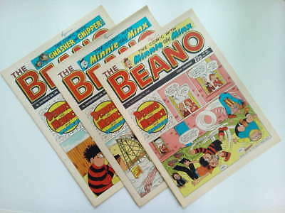 BEANO COMICS From The 1980s Vintage Collectable * Buy 4 Get 1 FREEE * • 1.25£