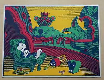 Jim Woodring Signed Frank Pupshaw Screenprint Print Fantagraphics Desert Island • 300£