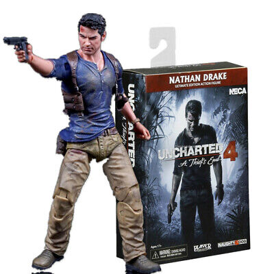 NECA Uncharted 4 Nathan Drake A Thief's End 7  Action Figure Model Playable Gift • 28.99£