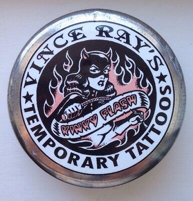 Vince Ray Wild At Heart Tattoo Kit In Presentation Tin Transfers Collectible HTF • 28£