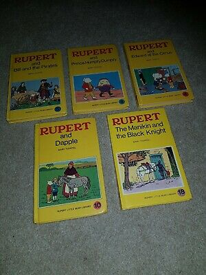 Set Of 5 Rupert The Bear Books Vintage • 3.95£