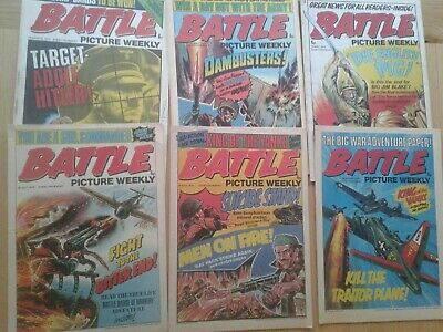 6 Battle Picture Weekly Comics 1975 IPC • 1.99£