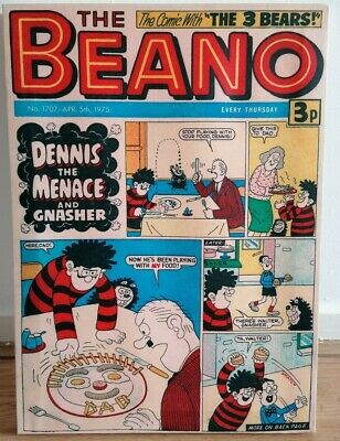 DC Thomson, Beano 1975 Reproduction Canvas Print, Dennis The Menace And Gnasher • 12£