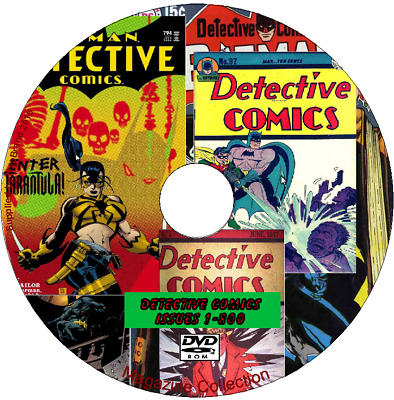 DETECTIVE COMICS On A PCDVD ISSUES 1 - 800 • 2.39£