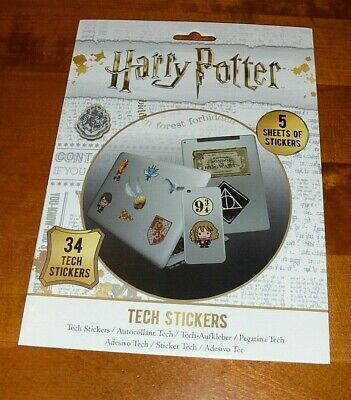 Harry Potter Tech Stickers 34 Stickers Brand New & Unused + Free Uk Post • 4.90£