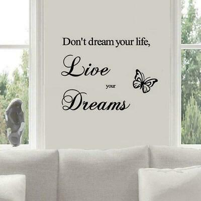 Proverbs Wall Stickers Note Paper-dye Inspirational Bedroom Wall Quote L9V9 • 1.49£