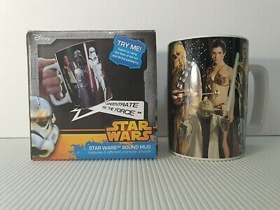 Super Rare Star Wars Sound Mug -  Feel The Force 6 Different Character Sounds. • 18.04£