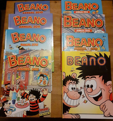Batch Of  8 Beano Albums-2010 To 2016 + 2020. Good Condition • 4£