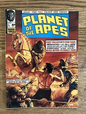 PLANET OF THE APES - Issue 1 With FREE GIFT, Plus Issues 2 - 10 UK Marvel 1974. • 75£