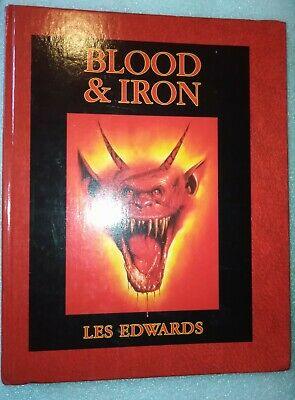 Blood And & Iron Les Edwards Games Workshop Warhammer Fantasy Art Book 1989 • 85£