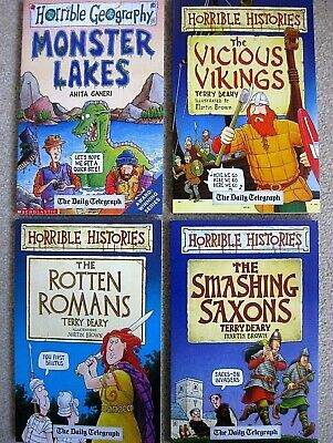 HORRIBLE HISTORIES Daily Telegraph Books 4 Off  Various History  • 6£