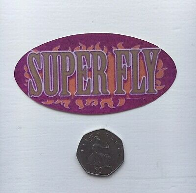Super Fly Socially Hazardous Y2k Vending Machine Vintage Bumper Jumbo Sticker • 1.20£