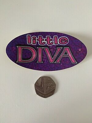 Little Diva Socially Hazardous Y2k Vending Machine Vintage Bumper Jumbo Sticker • 1.20£