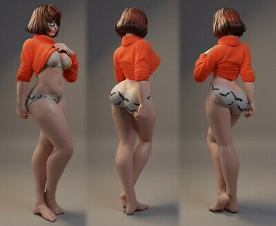 Sexy Velma Undressing | Miniature Pin Up | Resin Figure Garage Kit • 34.68£
