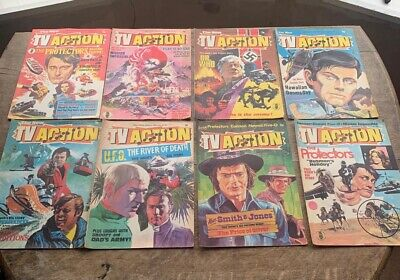 TV ACTION  COMIC Selection 1973)30 Editions From The Full Set Of 32 • 75£