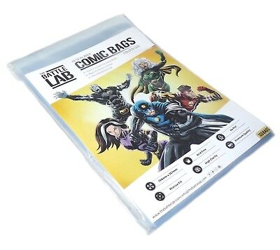 Battle Lab -  Resealable Golden Age Comic Book Storage Bags 500 Comic Bags • 24.99£
