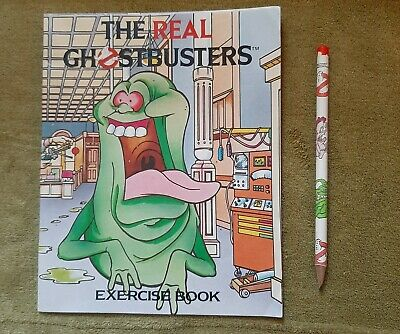 Vintage The Real Ghostbusters Pencil And Unused Exercise Book 16CM X 20CM Bundle • 29.95£
