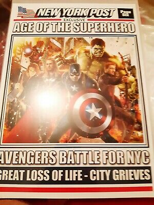 Avengers Newspaper Front Page Collectable  • 5£