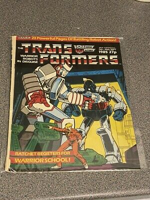 TRANSFORMERS G1 UK Marvel Comics # 26, SEPT 7th – 14th, 1985 • 2.99£