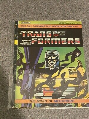 TRANSFORMERS G1 UK Marvel Comics # 21, JUNE 29th – JULY 12th, 1985 • 2.99£