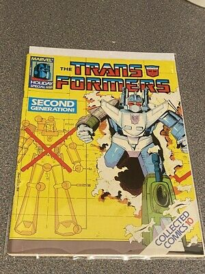TRANSFORMERS G1 UK Marvel Comics # 10, MARVEL HOLIDAY SPECIAL Collected Comic • 4.99£