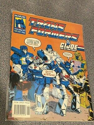 TRANSFORMERS G1 UK Marvel Comics # 261, MARCH 17th Marvel Comics 1990, LOT • 5.99£
