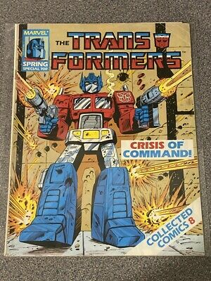 TRANSFORMERS G1 UK COLLECTED Comics No: 8, SPRING SPECIAL - Marvel Comics JOB LO • 4.99£