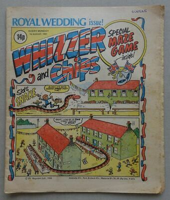 Whizzer And Chips Comic Aug 1 1981 ROYAL WEDDING Issue VG+ (phil-comics) • 0.99£