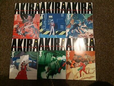 AKIRA Paperback Volumes 1-6 Good Condition • 90£