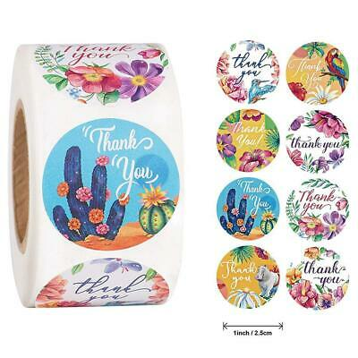 500labels/Roll Handmade Thank You Stickers Wedding Birthday Party Flowers L • 4.22£