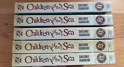 Children Of The Sea Manga Vols 1-5 Complete Sequence Unread & Mint • 13£