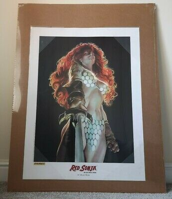 Exclusive Rare Red Sonja Lithograph By Dynamite Entertainment 18 X 24  - Sealed • 45£