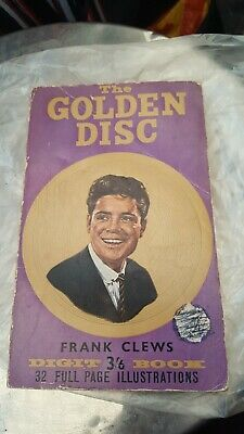 1960s Golden Disc Pop Book, Featuring Elvis, Cliff & Many Others By Frank Clews • 1.20£