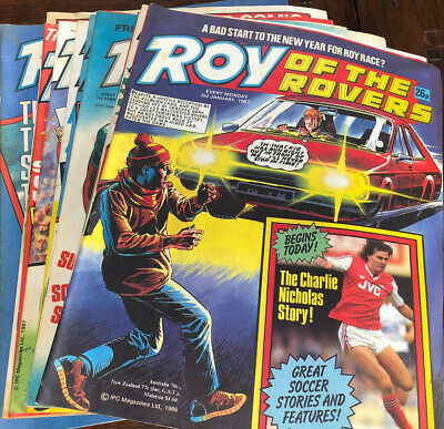 Roy Of The Rovers Vintage Comics - 1987- 18 Issues 3rd Jan To 2nd May Inc. • 1.40£