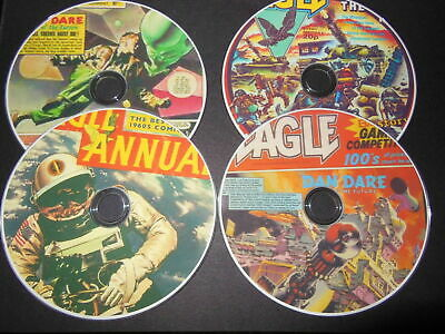 CLASSIC EAGLE COMICS COLLECTION  900 ISSUES On 4  DVD ROM • 5.20£