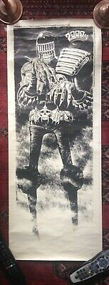 Rare 1980 Judge Death Poster Brian Bolland 2000ad Forbidden Planet Judge Dredd • 500£