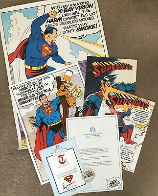 Superman Vintage Uk Anti-smoking Campaign Dc Comics • 79.99£