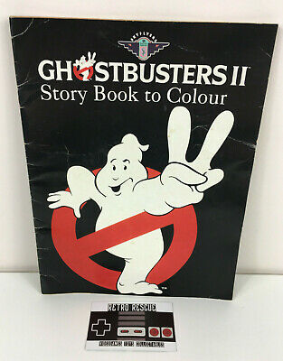 Vintage 80s Ghostbusters II Story Book To Colour British Airways Skyflyers 1989 • 19.99£