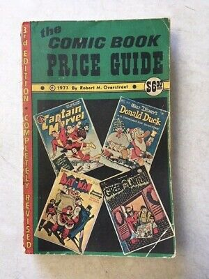 The Overstreet Comic Book Price Guide #3 Softcover Book 1973 Bat Man Marvel  • 70.81£