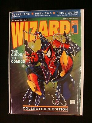 Wizard Magazine Collector's Edition #1 With Poster 1991 Todd McFarlane Cover VF • 23.81£