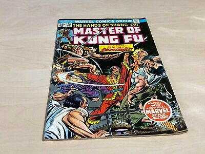 September 1974 No.20 25c Masters Of Kung Fu Marvel Comic Death Dealing Samurai! • 6.99£