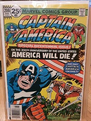 Captain America Poster 43 W/ Falcon Jack Kirby Issue 200 Cover • 40£