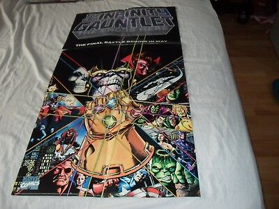 Infinity Gauntlet And Infinity War Original Promotional Posters Thanos • 79.99£